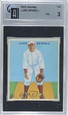 1933 Goudey Big League Chewing Gum R319 #114 Luke Sewell GAI 3 Baseball Card