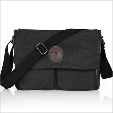 Men's Vintage Canvas Shoulder Bag Messenger Bag School Military #047
