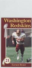 1992 Mobil Washington Redskins Police #N/A Earnest Byner Football Card