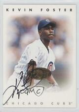 1996 Leaf Signature Series Autographs Gold #KEFO Kevin Foster Chicago Cubs Auto