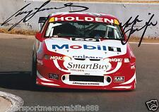 Mark Skaife Craig Lowndes SIGNED 6x4 or 8x12 photos V8 Supercars HRT