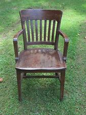 vintage wood office chair banker desk courthouse lawyer bela stackable office chair