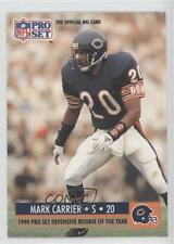 1990 Pro Set #800 Mark A Carrier Chicago Bears A. RC Rookie Football Card