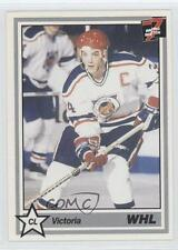 1990-91 7th Inning Sketch WHL #343 Victoria Cougars (WHL) Rookie Hockey Card