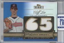 2012 Topps Tribute Debut Digits Relic Blue Encased DD-CL Cliff Lee Baseball Card
