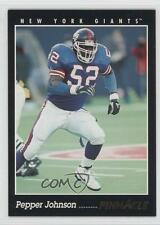 1993 Pinnacle #88 Pepper Johnson New York Giants Football Card