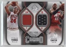 2009-10 SP Game Used Combo Materials #CM-CT Tyrus Thomas Vince Carter Card