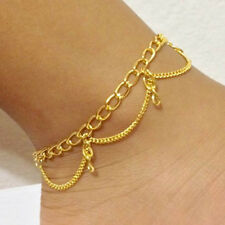 Turquoise Gold Chain Anklets Gold Filled Star Starfish Conch Vintage New
