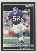 1992 Pinnacle #5 Pepper Johnson New York Giants Football Card