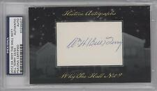 2012 Historic Autographs Why the Hall Not? Cut Autographed #BITE Bill Terry Auto