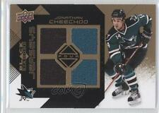 2008-09 Upper Deck Black Diamond Quad Jerseys Gold BDJ-JC Jonathan Cheechoo Card