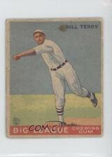 1933 Goudey Big League Chewing Gum R319 #20 Bill Terry New York Giants RC Card