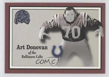 2000 Fleer Greats of the Game #7 Art Donovan Baltimore Colts Indianapolis Card