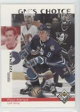 1998 Upper Deck UD Choice 240 Paul Kariya Anaheim Ducks (Mighty of Anaheim) Card
