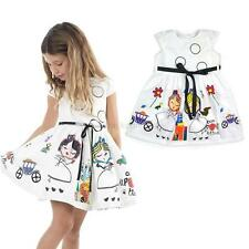 Toddler Kids Baby Dress Girls Short Sleeve Party Princess Pageant Dresses 2-8Y