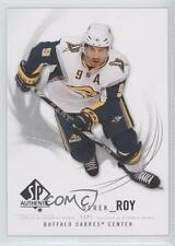 2009-10 SP Authentic #45 Derek Roy Buffalo Sabres Hockey Card