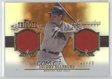 2013 Topps Tribute Superstar Swatches Relics Orange #SS-JE Jacoby Ellsbury Card