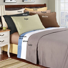 "Real 400TC 100% Egyptian Cotton Ultra Soft Solid 4PC Sheet Set 12""Deep CA Size"