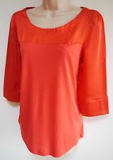 Womens Blouse Top Size 6 8 10 12 14 16 18 20 New N*xt Ladies Red 3/4 Sl Boat nck