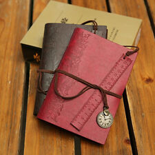 Classic Vintage Retro Leather Journal Travel Notepad Notebook Blank Diary