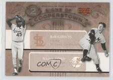 2005 Upper Deck Hall of Fame Signs Cooperstown Dual #GF Bob Gibson Whitey Ford