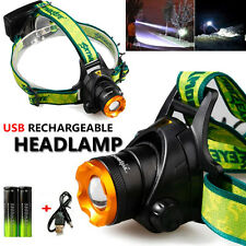 6000LM CREE XM-L T6 LED Headlamp 18650 USB Rechargeable Headlight Head Light US