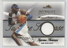 2004 Fleer Showcase Supreme Gold Jersey #SS-BW Ben Wallace Detroit Pistons Card