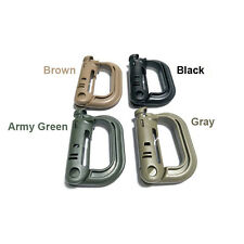 5Pcs Military Products EDC Grimloc Molle Locking D-ring Webbing Buckle