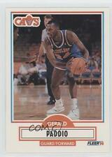 1990 Fleer Update #U-18 Gerald Paddio Cleveland Cavaliers Rookie Basketball Card