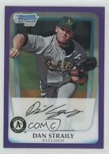 2011 Bowman Chrome Prospects Purple Refractor #BCP53 Dan Straily Baseball Card