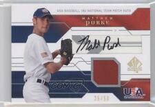 2008 SP Authentic #JTA-MP Matthew Purke Team USA (National Team) Matt Auto Card