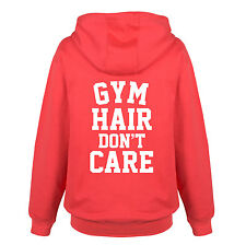 Gym Hair Dont Care- Adult Ladies Full Zip Hoodie