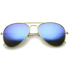 sunglassLA Premium Flash Mirror Lens Aviator Sunglasses