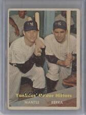 1957 Topps #407 Yankees' Power Hitters (Mickey Mantle Yogi Berra) Mickey Berra