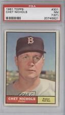 1961 Topps #301 Chet Nichols PSA 7 (ST) Boston Red Sox Baseball Card