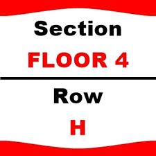 2 TIX Red Hot Chili Peppers 4/14 Philips Arena Sect-FLOOR 4