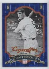 2012 Panini Cooperstown Blue Crystal Collection 71 Hank Greenberg Detroit Tigers