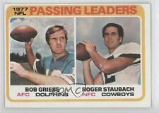 1978 Topps #331 NFL Passing Leaders (Bob Griese Roger Staubach) Dallas Cowboys