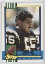 1990 Topps Traded #28T Junior Seau San Diego Chargers RC Rookie Football Card