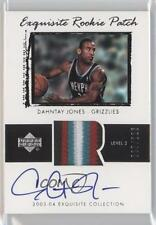 2003-04 Upper Deck Exquisite Collection #70 Dahntay Jones Memphis Grizzlies Auto