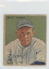 1933 Goudey Big League Chewing Gum R319 #125 Bill Terry New York Giants RC Card