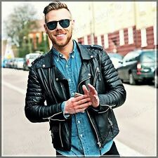 New Style Lambskin Black Leather Jacket Biker Motorcycle Jackets For Men Q 09