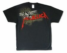 Metallica Seek And Destroy Banner Squindo Black T Shirt New Official
