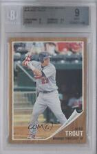 2011 Topps Heritage Minor League Edition #44 Mike Trout BGS 9 Arkansas Travelers