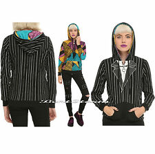 2015 UPDATED Nightmare Before Christmas Jack Sally REVERSIBLE Costume Hoodie NEW