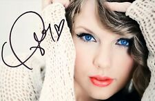 TAYLOR SWIFT SIGNED 6x4 or 8x12 PHOTO PRINT AUTOGRAPH MUSIC POP