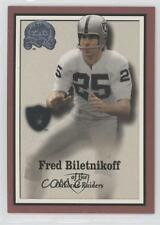 2000 Fleer Greats of the Game #59 Fred Biletnikoff Oakland Raiders Football Card