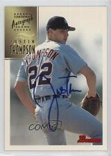 1997 Bowman Certified Autograph Issue Blue Ink #CA79 Justin Thompson Auto Card
