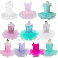 Gymnastics Dress Dance Ballet Tutu Leotard Layered Dress For Girls Kid Children
