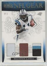 2010 Playoff National Treasures NFL Gear Trios Prime #12 Brandon LaFell Card